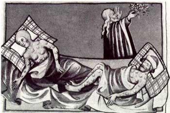 Doentes da peste negra