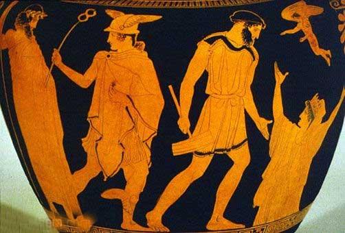 Hermes, Epimeteu e Pandora