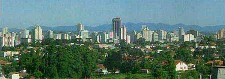 Curitiba sentido nordeste-sudoeste