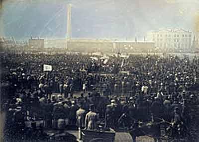 Greve na Inglaterra, 1848.