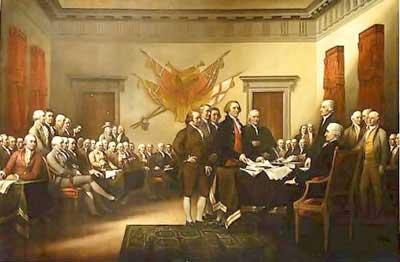 O Congresso Continental em Filadélfia: nascia a América.