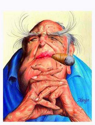 Oscar Niemeyer, caricatura
