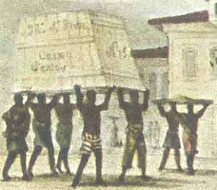 Debret - Negros carregando carga