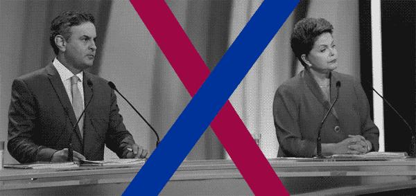Dilma e Aécio em debate na Band