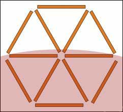 Triângulos com palitos