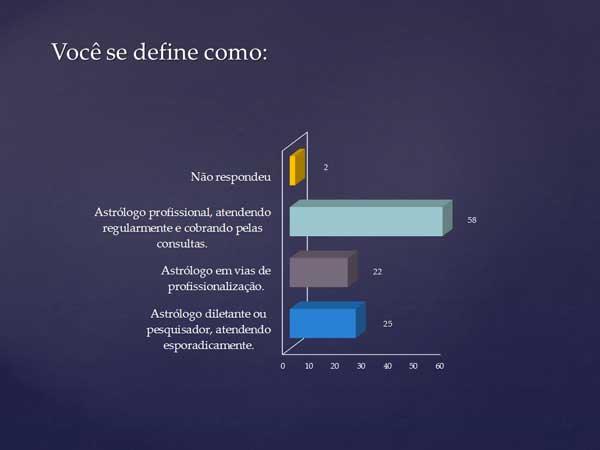 Grau de profissionalização dos participantes da pesquisa Estilos de Atendimento Astrológico