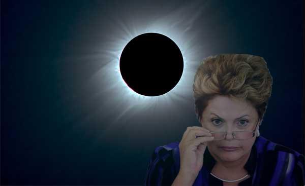DIlma e o eclipse