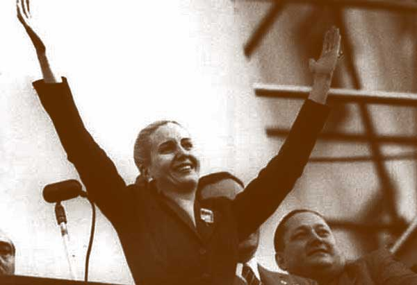 "Evita Perón, a ""mãe dos pobres"" dos argentinos."