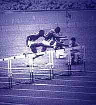 Atletismo - Corrida com barreiras