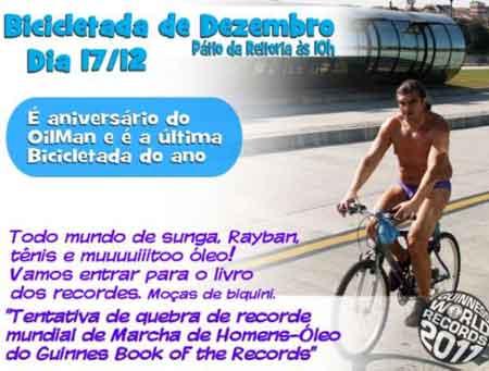 Cartaz da Bicicletada publicado na Gazeta do Povo
