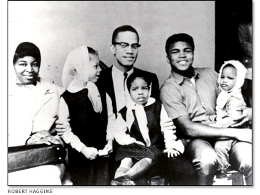 Clay e a família de Malcolm X