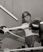 Muhammad Ali treina no Zaire