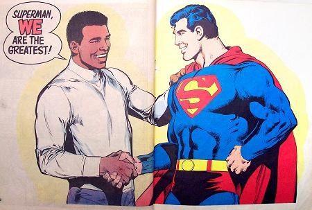 Paz entre Superman e Muhammad Ali