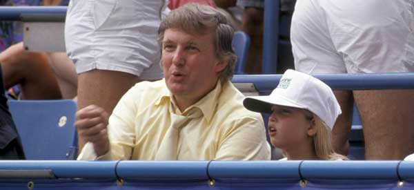 A pequena Ivanka e Donald.