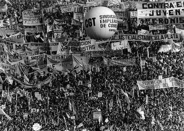 Protestos populares na Argentina, 1982