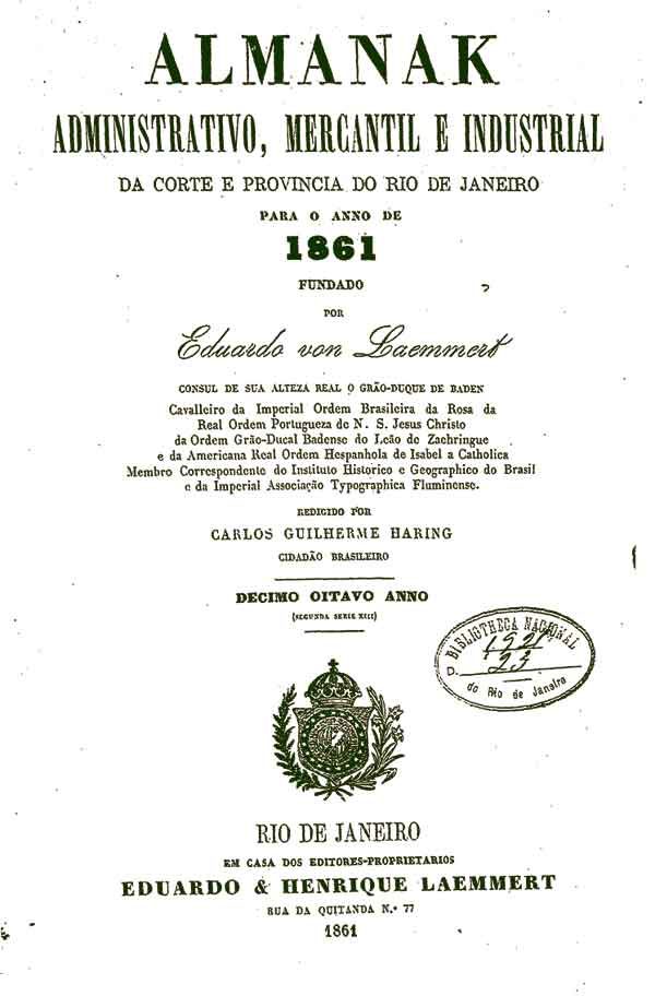Almanaque Laemmert, 1861