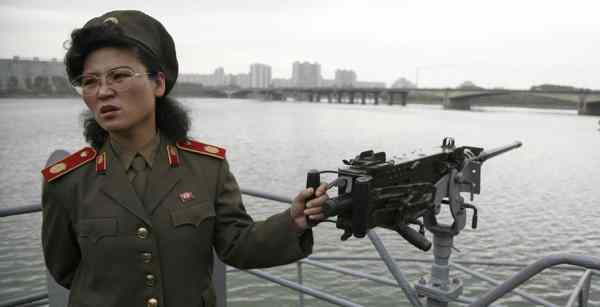 Mulher militar do exército coreano