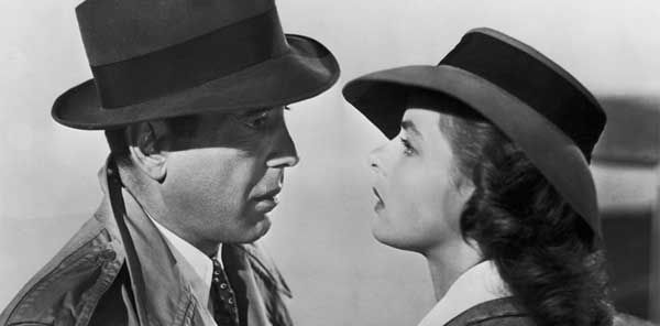 Humphrey Bogart e Ingrid Bergman no filme Casablanca