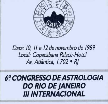 Capa do folder do 6º Congresso de Astrologia do RJ