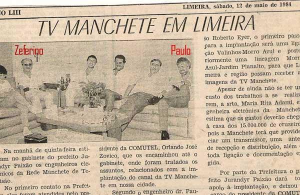 Inauguração de repetidora da TV Manchete, em 1984.