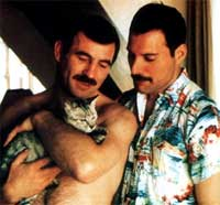 Freddie Mercury e Jim Hutton