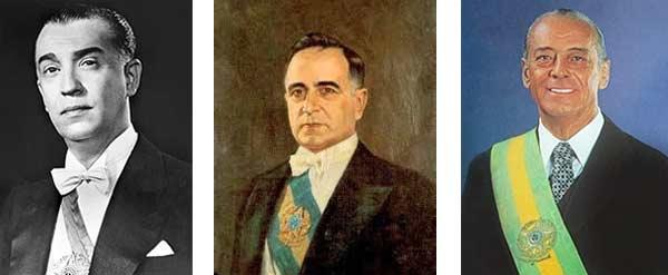Juscelino Kubitschek, Getulio Vargas e João Figueiredo