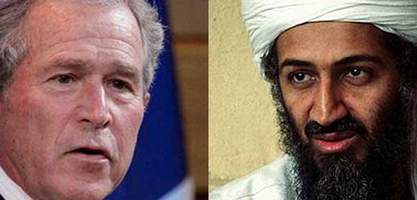 George W. Bush e Osama bin Laden
